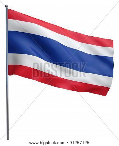 Thailand Flag Waving