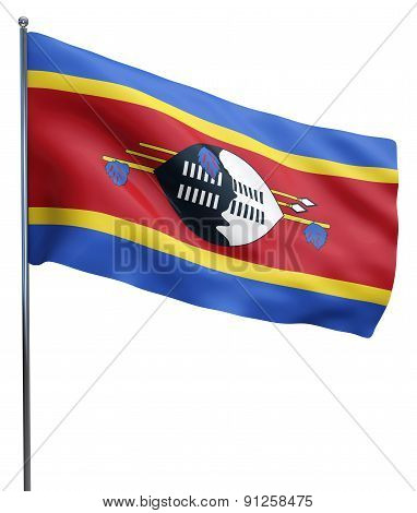 Swaziland Flag Waving