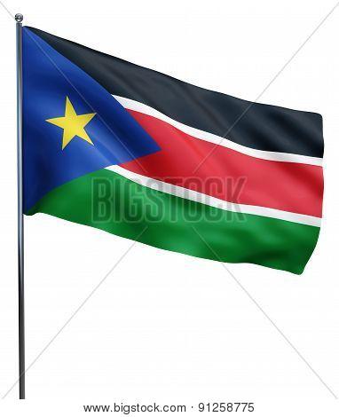 South Sudan Flag Waving