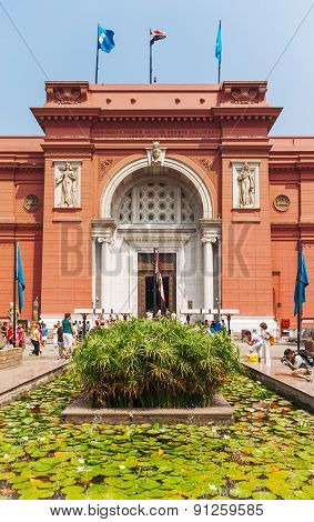 The Egyptian Museum in Cairo one of the most famous museums of the world.