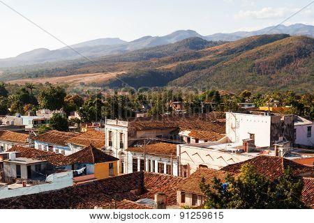 Colonial Town Cityscape Of Trinidad, Cuba. Unesco World Heritage Site.