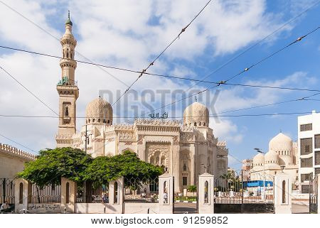 Mosque of Abu Abbas al Mursi in Alexandria Egypt