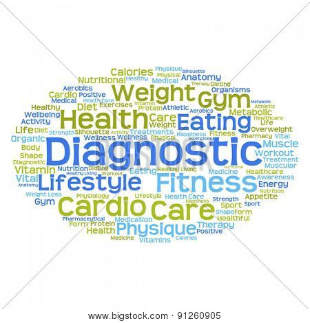 Vector concept or conceptual abstract health word cloud or wordcloud