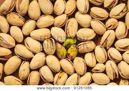 Roasted Pistachio Nuts Seed As Background