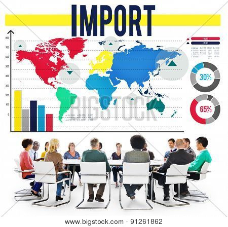 Import International Shipping Logistics Merchandise Concept