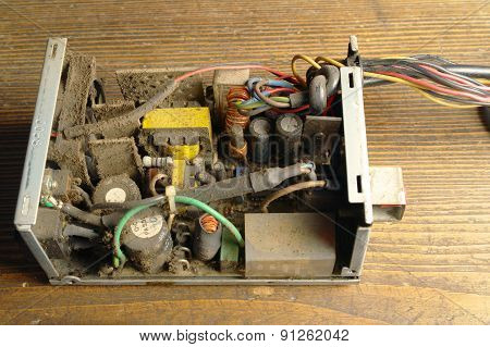 Dusty Power Supply Inside