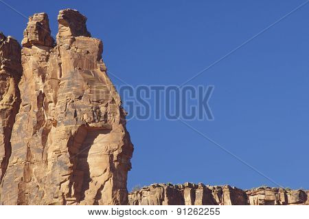 Rocky cliffs near Moab, Utah, Usa.