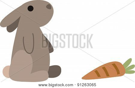 Vector Illustration Of A Bunny
