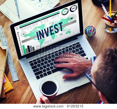 Invest Economy Investment Income Finance Concept