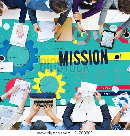 Mission Aim Aspiration Inspiration Goal Target Concept