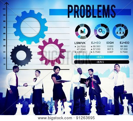 Problems Difficulty Mistake Negative Solution Solving Concept