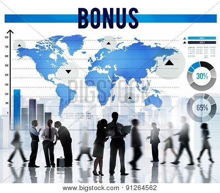 Bonus Incentive Income Money Payment Concept