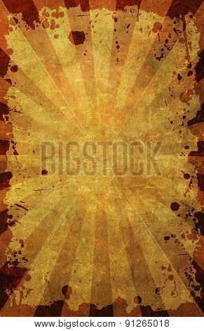 Grunge Poster Background With Border Frame