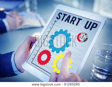 Start up Business Mission Opportunity Goals Concept