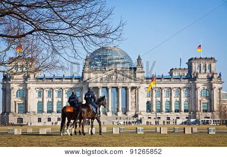 Reichstag (bundestag) Building In Berlin, Germany