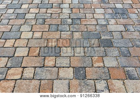 Stone sidewalk closeup photo