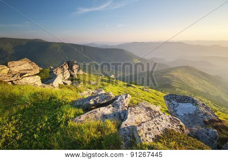 Mountain landscape. Composition of nature.