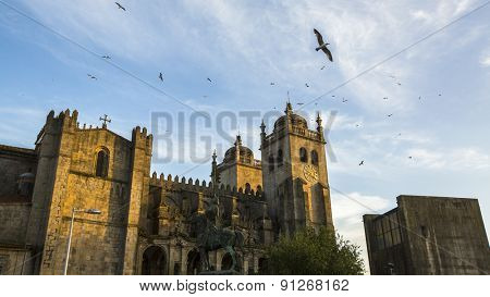 The Porto Cathedral (Se do Porto), Portugal.