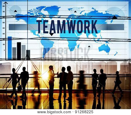 Teamwork Collaboration Cooperation Partnership Concept