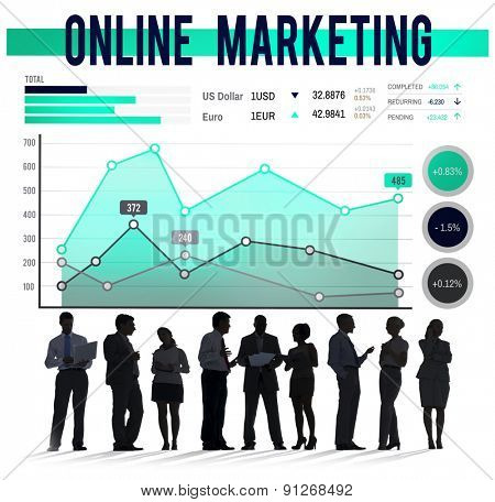 Online Marketing Planning Strategy Business Organization Concept
