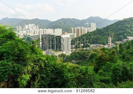 View on Sha Tin from the hill