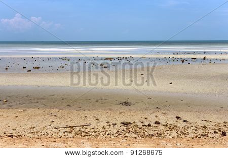 Low Tide On The Sea