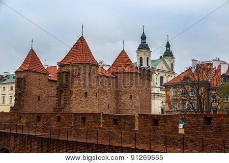 Barbican Fortress In Warsaw