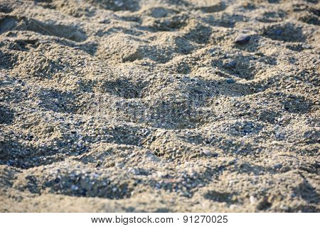 beach sand relief at sunset, selective focus, suitable as background