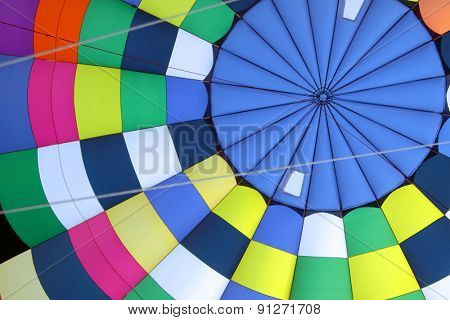 Hot air balloon cloth background out of focus