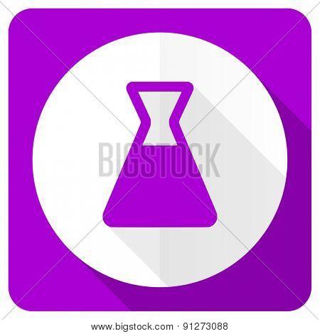 laboratory pink flat icon