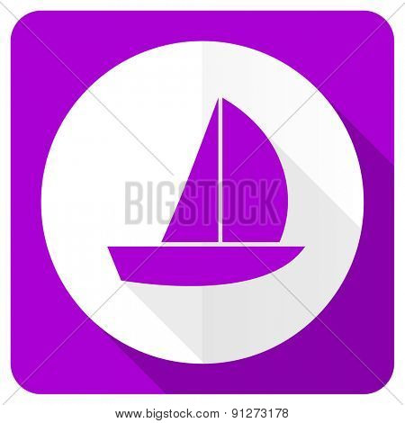 yacht pink flat icon sail sign