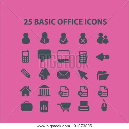 25 website icons set, vector