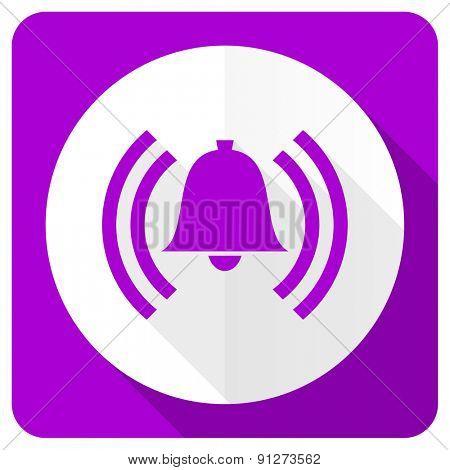 alarm pink flat icon alert sign bell symbol