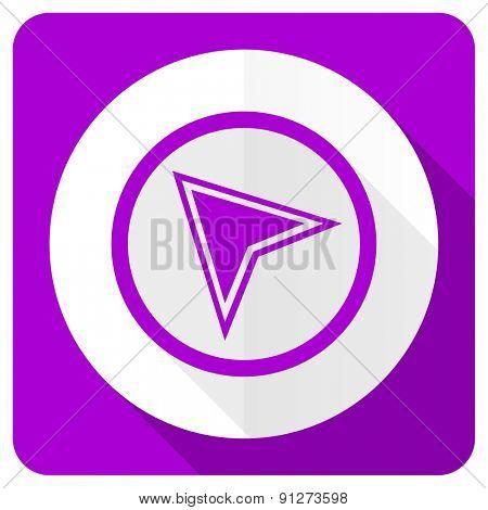 navigation pink flat icon