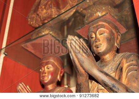 Buddha Statue With Hands Clasped
