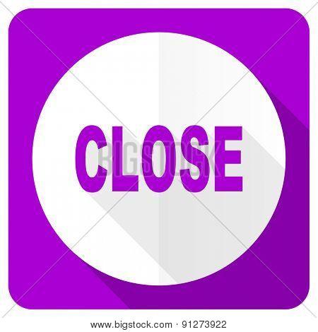 close pink flat icon