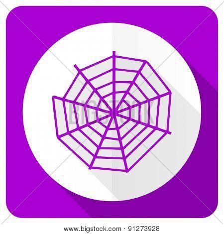 spider web pink flat icon