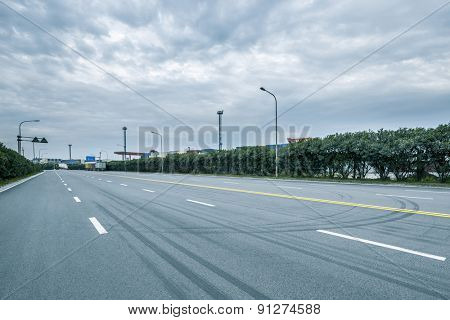 Empty road and cloudscape