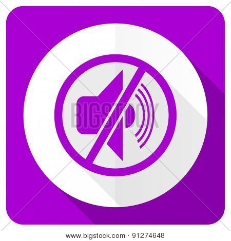 mute pink flat icon silence sign