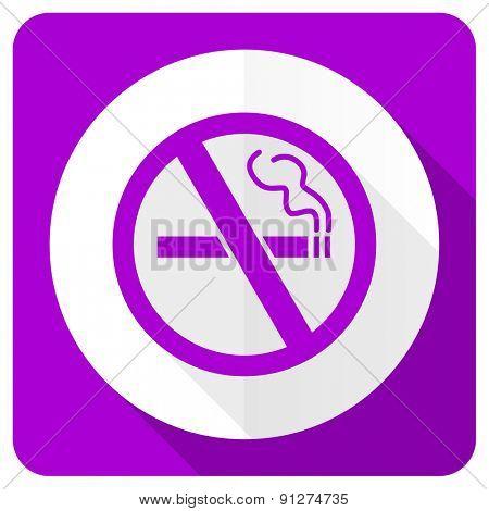 no smoking pink flat icon