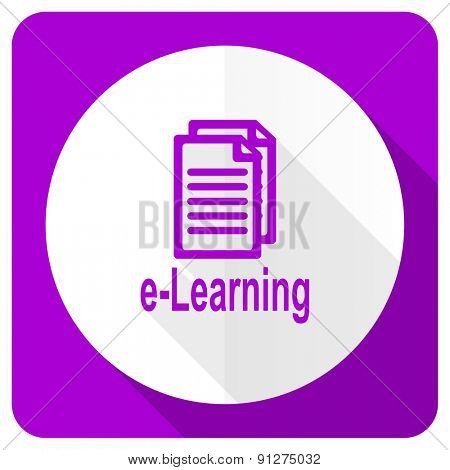 learning pink flat icon