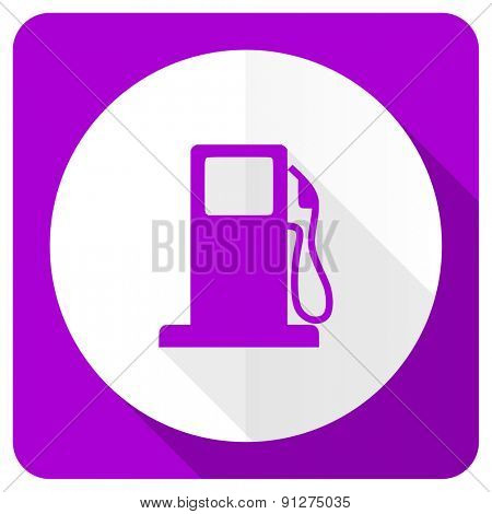 petrol pink flat icon gas station sign
