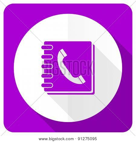 phonebook pink flat icon