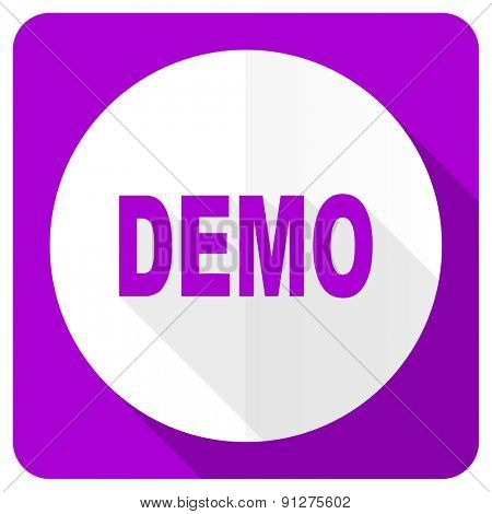demo pink flat icon