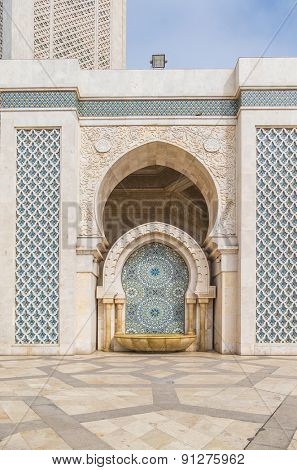 Hassan II Mosque in Casablanca, Morocco - fountain