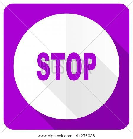stop pink flat icon