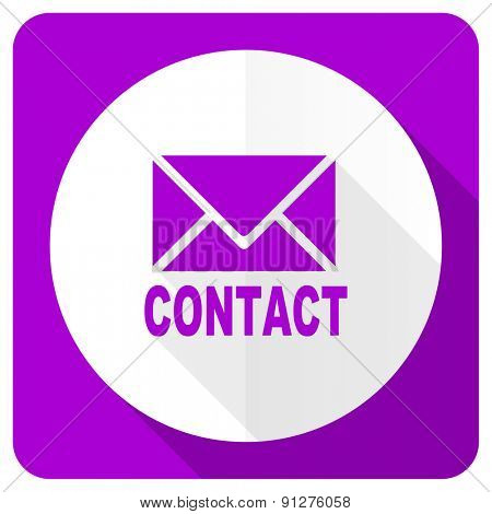 email pink flat icon contact sign