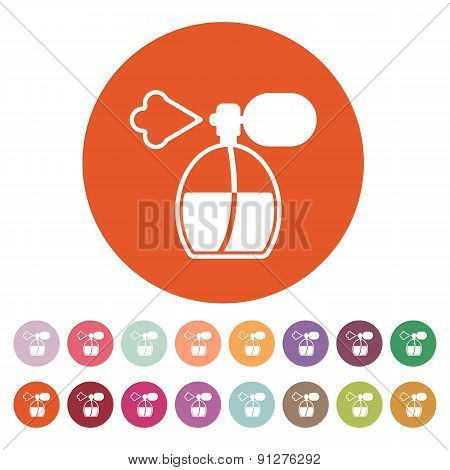 The Perfume Icon. Sprayer Symbol. Flat