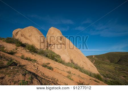Rock Boulders In California Nature
