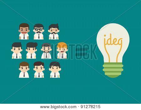 Businessman Teamwork Get Idea